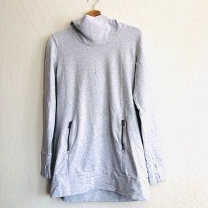 Lucy Heather Gray long sleeved hoodie Medium